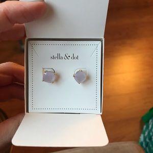 Stella & Dot Jewelry - Stella & Dot Luxe Studs - Blue